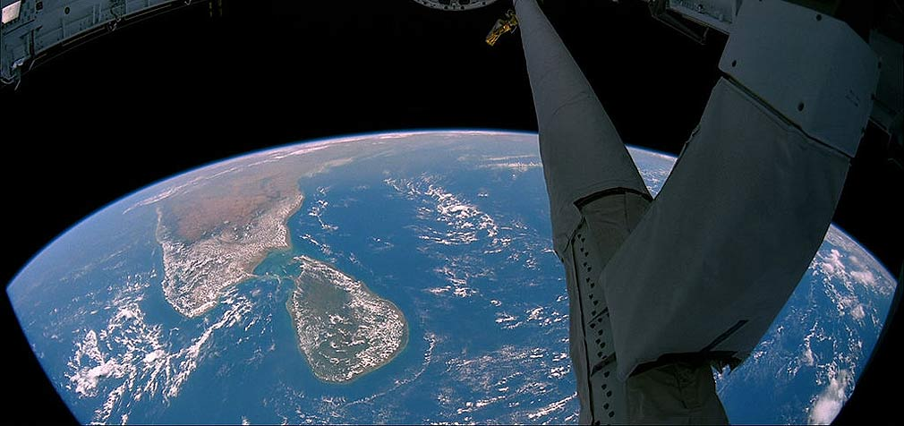 Sri Lanka as seen from outer space