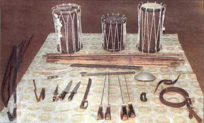Weapons used in Angampora