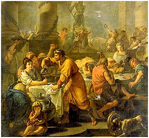 The poet Catullus describes Saturnalia as the best of days: a time of celebration, visits to friends, and gift-giving.