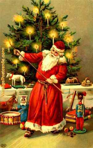 Christmas Origin.Santa Claus And The Origin Of The Christmas Tree Pole